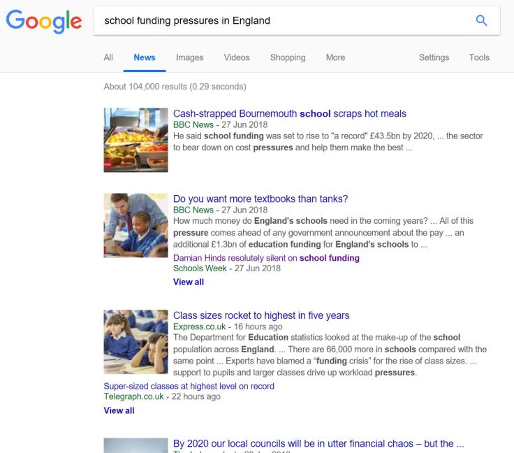 School funding pressures