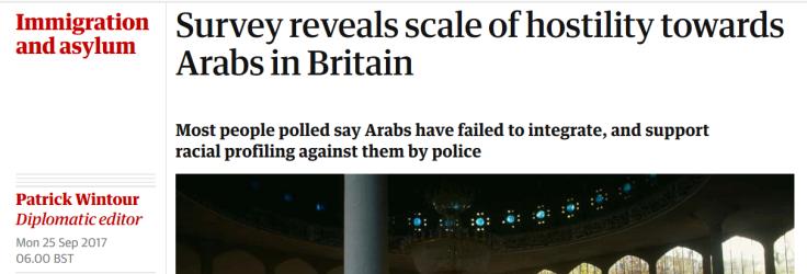 Arab hostility