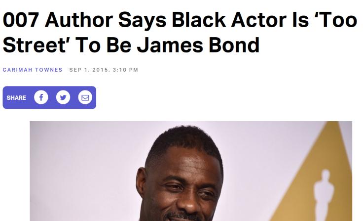 Bond racism 2