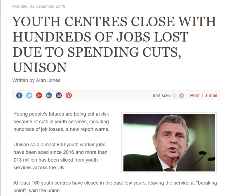 1 youth centres